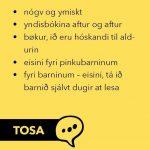 Tilfar um lesing, lesivanar og góð lesiráð